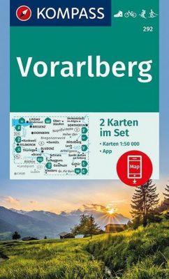Kompass Karte Vorarlberg, 2 Bl.