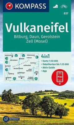 Kompass Karte Vulkaneifel, Bitburg, Daun, Gerolstein, Zell (Mosel)