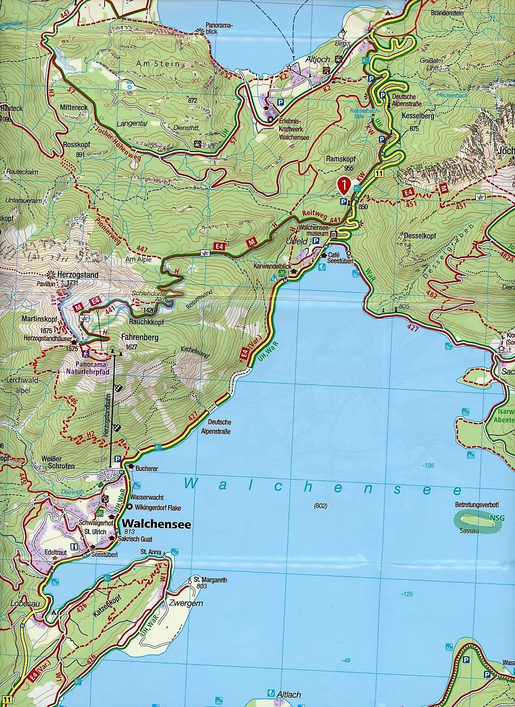 Bundesl303244nder Karte Ohne Namen.Walchensee Karte