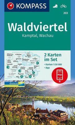 Kompass Karte Waldviertel, Kamptal, Wachau, 2 Bl.