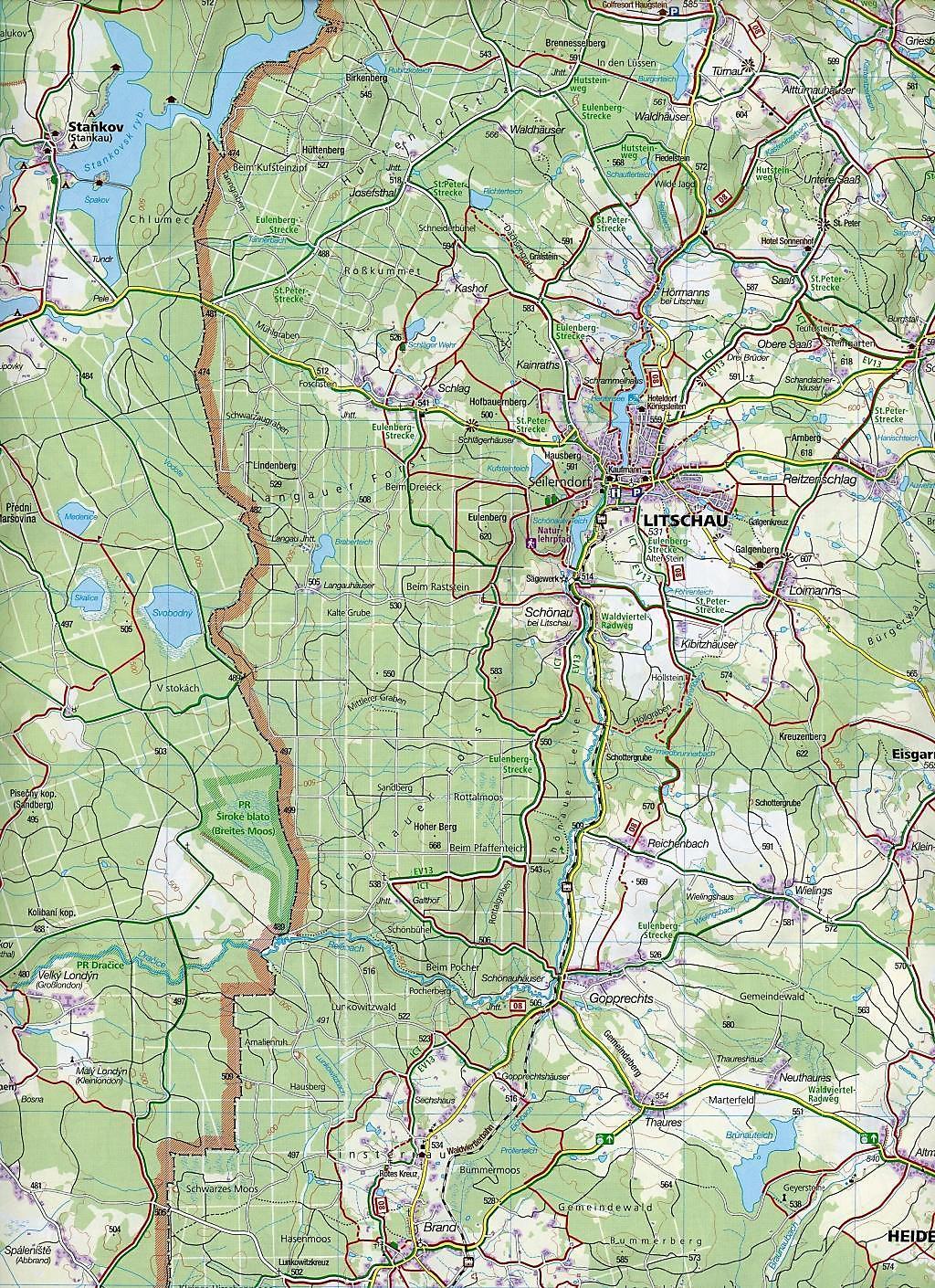 Wachau Karte.Kompass Karte Waldviertel Kamptal Wachau 2 Bl Buch Portofrei