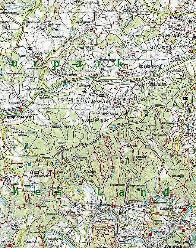 Westerwald Karte.Kompass Karte Westerwald 2 Bl M Kompass Naturfuhrer