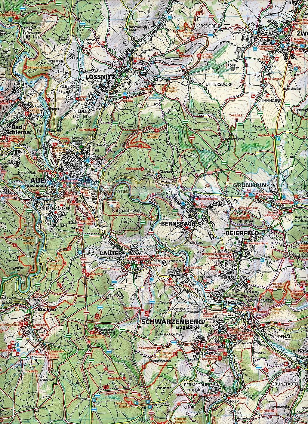 Bergbau Erzgebirge Karte.Kompass Karte Westliches Erzgebirge Buch Bestellen Weltbild De