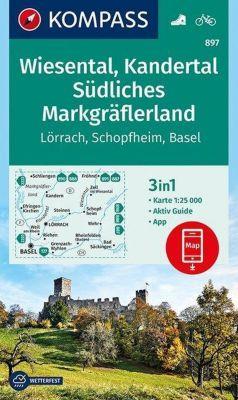 Kompass Karte Wiesental, Kandertal, Südliches Markgräflerland