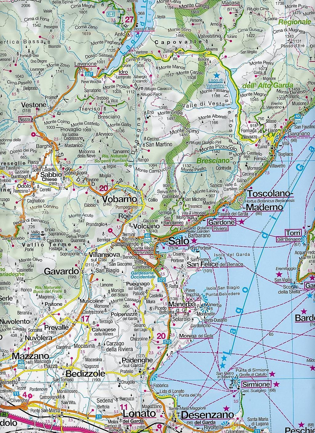 gardasee karte Kompass Panorama Karte Gardasee Kompass Panorama Karte Lake Garda