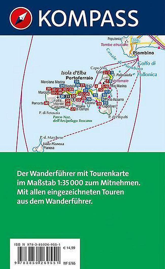 Elba Karte.Kompass Wanderführer Elba M 1 Karte Buch Versandkostenfrei