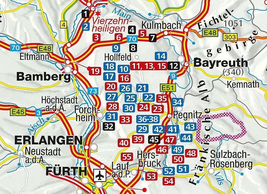 Fränkische Schweiz Karte.Kompass Wanderführer Fränkische Schweiz Mit Oberem Maintal Und