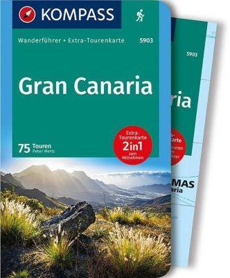 Kompass Wanderführer Gran Canaria, m. 1 Karte, Peter Mertz