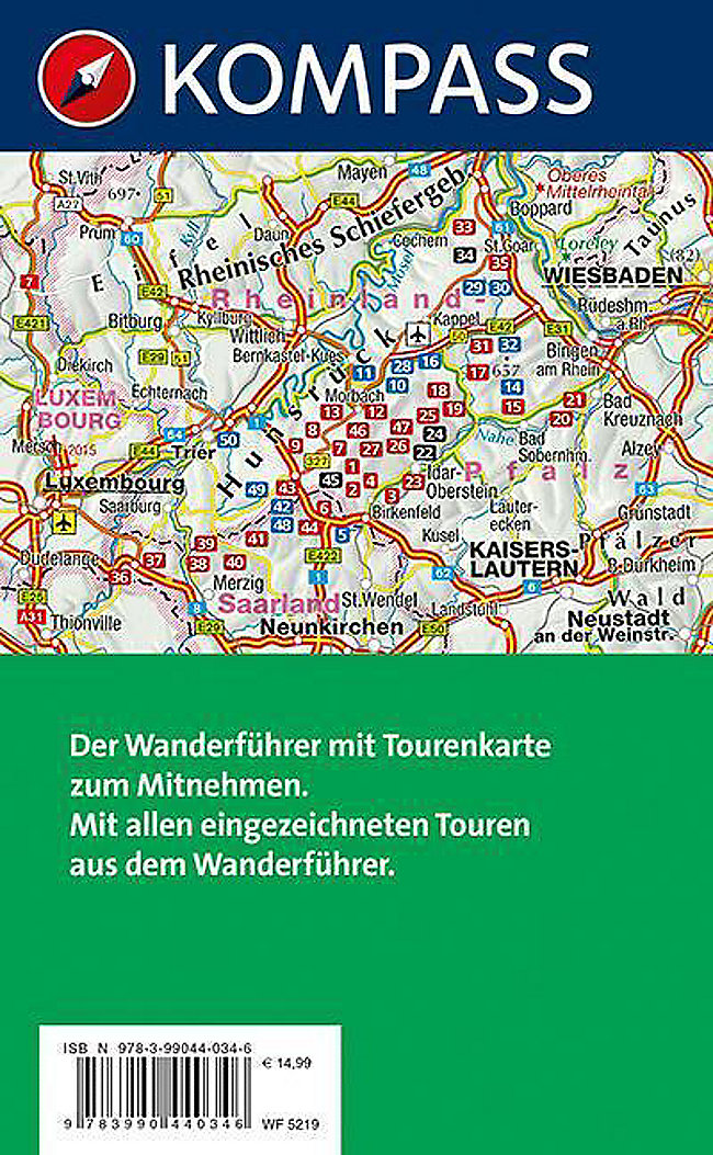 Hunsrück Hochwald Karte.Kompass Wanderführer Hunsrück Mit Saar Hunsrück Steig M 1 Karte Buch