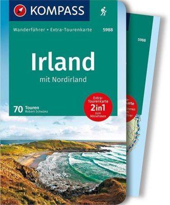 KOMPASS Wanderführer Irland mit Nordirland, m. 1 Karte - Robert Schwänz |