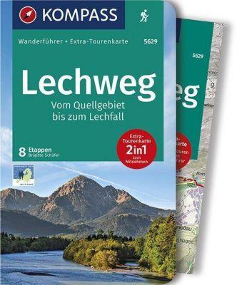 Kompass Wanderführer Lechweg - Vom Quellgebiet bis zum Lechfall, m. 1 Karte - Brigitte Schäfer |