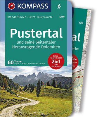 KOMPASS Wanderführer Pustertal und seine Seitentäler, Herausragende Dolomiten, m. 1 Karte
