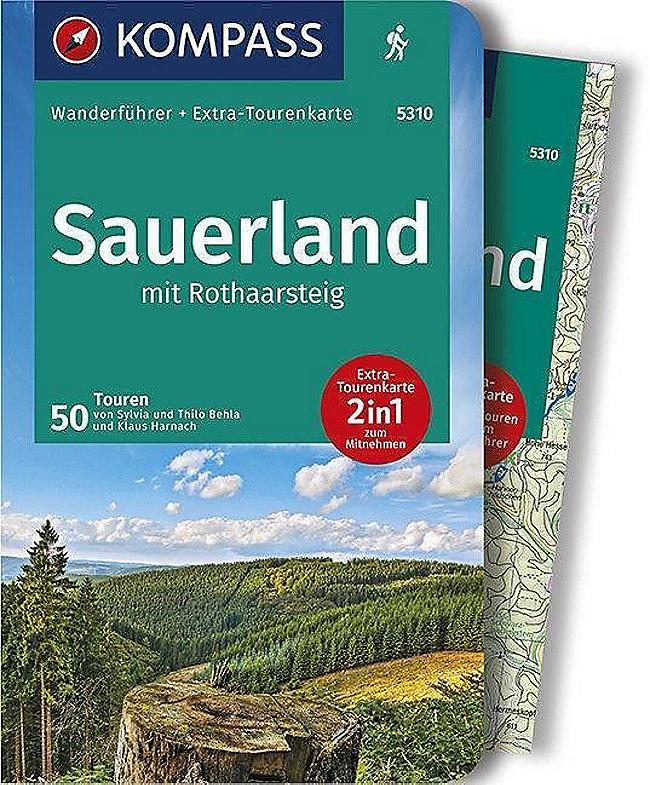 Rothaarsteig Karte.Kompass Wanderführer Sauerland Mit Rothaarsteig M 1 Karte Buch