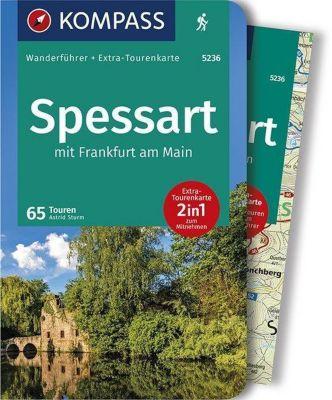 Kompass Wanderführer Spessart mit Frankfurt am Main, m. 1 Karte - Astrid Sturm |