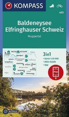 KOMPASS Wanderkarte Baldeneysee, Elfringhauser Schweiz, Wuppertal