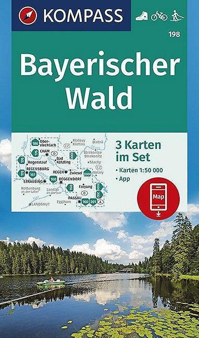 Dreiländereck Bayerischer Wald Karte.Kompass Wanderkarte Bayerischer Wald Buch Versandkostenfrei