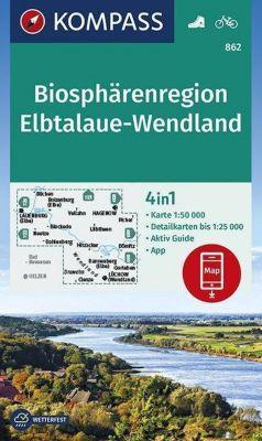 KOMPASS Wanderkarte Biosphärenregion Elbtalaue-Wendland