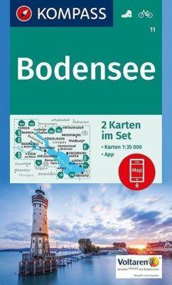 KOMPASS Wanderkarte Bodensee
