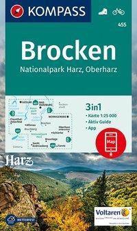 KOMPASS Wanderkarte Brocken, Nationalpark Harz, Oberharz 1:25T