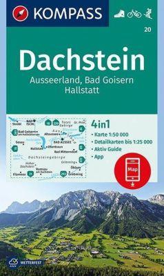 KOMPASS Wanderkarte Dachstein, Ausseerland, Bad Goisern, Hallstatt