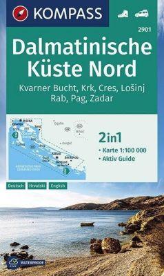 KOMPASS Wanderkarte Dalmatinische Küste Nord