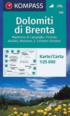 KOMPASS Wanderkarte Dolomiti di Brenta