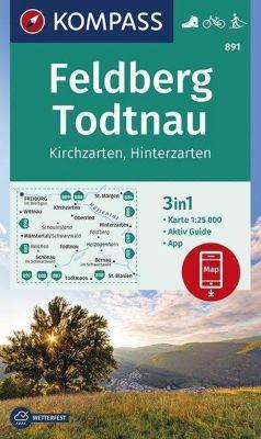 KOMPASS Wanderkarte Feldberg, Todtnau, Kirchzarten, Hinterzarten