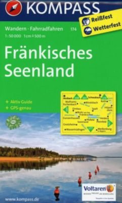 KOMPASS Wanderkarte Fränkisches Seenland