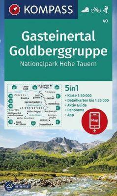 KOMPASS Wanderkarte Gasteinertal, Goldberggruppe, Nationalpark Hohe Tauern