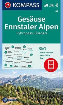 KOMPASS Wanderkarte Gesäuse, Ennstaler Alpen, Pyhrnpass, Eisenerz
