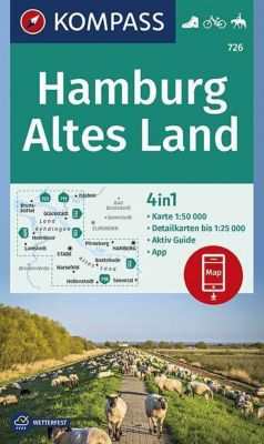 KOMPASS Wanderkarte Hamburg, Altes Land