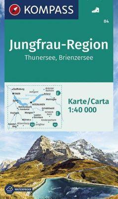 KOMPASS Wanderkarte Jungfrau-Region, Thunersee, Brienzersee