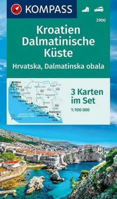 KOMPASS Wanderkarte Kroatien, Dalmatinische Küste