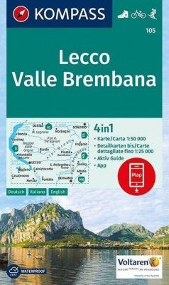 KOMPASS Wanderkarte Lecco, Valle Brembana