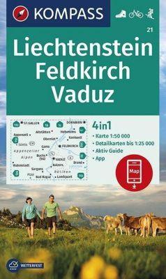 KOMPASS Wanderkarte Liechstenstein, Feldkirch, Vaduz -  pdf epub
