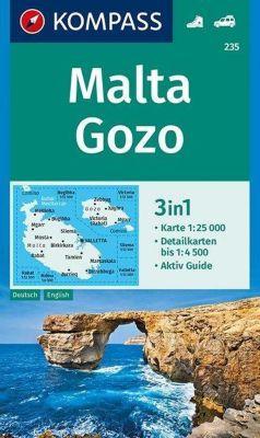 KOMPASS Wanderkarte Malta, Gozo -  pdf epub