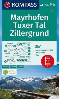 KOMPASS Wanderkarte Mayrhofen, Tuxer Tal, Zillergrund -  pdf epub