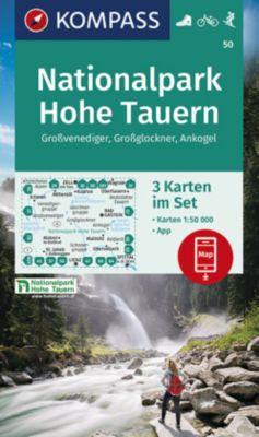 KOMPASS Wanderkarte Nationalpark Hohe Tauern, Großvenediger, Großglockner, Ankogel