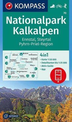KOMPASS Wanderkarte Nationalpark Kalkalpen, Ennstal, Steyrtal, Pyhrn-Priel-Region