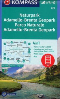 KOMPASS Wanderkarte Naturpark Adamello-Brenta Geopark, Parco Naturale Adamello-Brenta Geopark