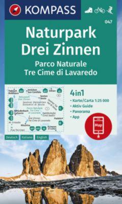 KOMPASS Wanderkarte Naturpark Drei Zinnen, Parco Naturale Tre Cime di Lavaredo; Parco Naturale Tre Cime di Lavaredo