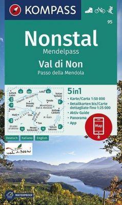 KOMPASS Wanderkarte Nonstal, Mendelpass, Val di Non, Passo della Mendola -  pdf epub