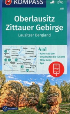 KOMPASS Wanderkarte Oberlausitz, Zittauer Gebirge, Lausitzer Bergland