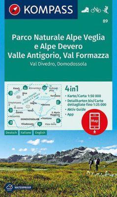 KOMPASS Wanderkarte Parco Naturale Alpe Veglia e Alpe Devero, Valle Antigorio, Val Formazza, Val Divedro, Domodossola