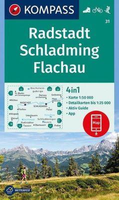 KOMPASS Wanderkarte Radstadt, Schladming, Flachau