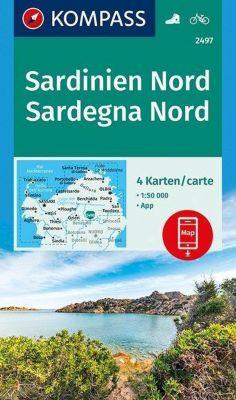 KOMPASS Wanderkarte Sardinien Nord, Sardegna Nord
