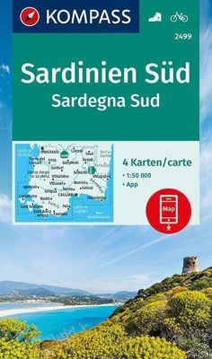 KOMPASS Wanderkarte Sardinien Süd, Sardegna Sud; Sardegna Sud