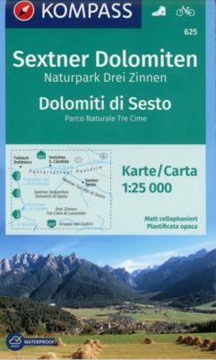 KOMPASS Wanderkarte Sextner Dolomiten, Naturpark Drei Zinnen, Dolomiti di Sesto, Parco Naturale Tre Cime -  pdf epub