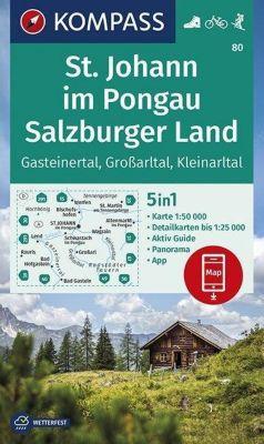 KOMPASS Wanderkarte St. Johann im Pongau, Salzburger Land