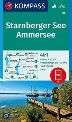 KOMPASS Wanderkarte Starnberger See, Ammersee